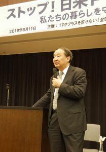 日米外交について講演する金子勝立教大大学院特任教授