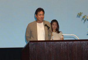 協同組合日本俳優連合の永島敏行常務理事が挨拶