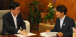 鹿児島県の三反園訓知事が農水省に復旧支援を要請
