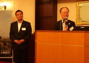 ホクレン内田和幸代表理事会長〔写真左〕と板東寛之代表理事専務〔写真右〕