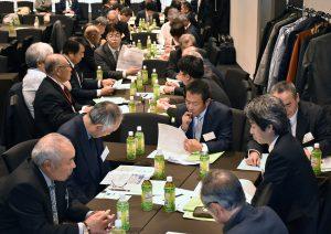 JA全中が令和元年度集落営農法人全国交流集会「第4回全国集落営農サミット」開催=9~10日(2日目の参加者によるグループ討議の模様。都内で)