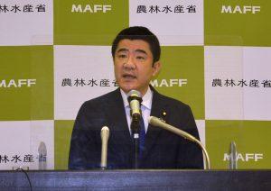 野上浩太郎新農林水産大臣が就任会見で決意語る