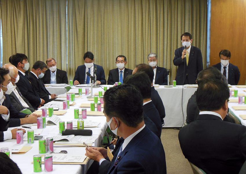 自民農業基本委で米対策議論、宮下新農林部会長が挨拶