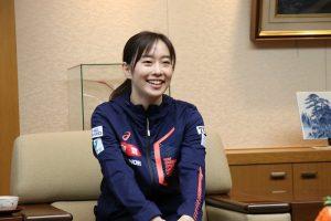 卓球日本代表全農所属の石川佳純選手が全農を訪問
